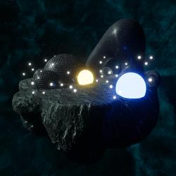 FANTASY SPACE ROCK LANDSCAPE