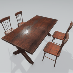 Old dining table set