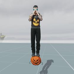 Halloween Pumpkin Float Anime