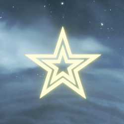 GLOWING STAR DECORATIVE