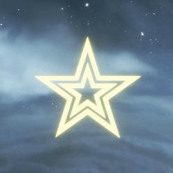 GLOWING STAR DECORATIVE SCULPTURE