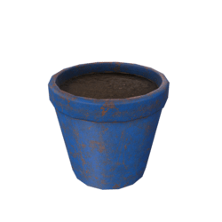 Flower Pot - Blue