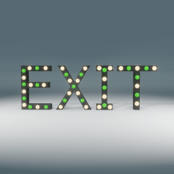 Exit Marquee Blinking Sign