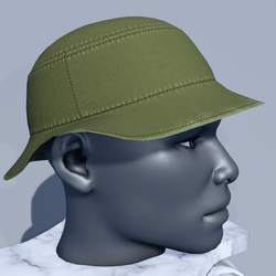 Men Bucket Sun Hat - Green Moss