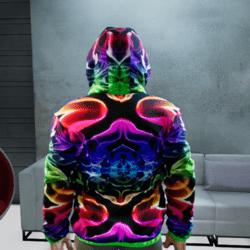 Men Windbreaker Jacket Neon