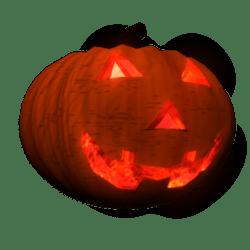 Pumpkin Head w/ Animated Glowing Eyes (Female)