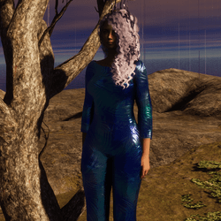 space glass jumpsuit