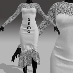 DEMO Lace Mermaid Formal Dress