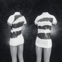 Dress Mila Latex Holes white