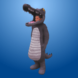 Croc Costume Grey (Male)