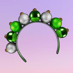 Ornaments Headband Green Silver