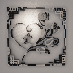CHINESE LOVE WALL ART - LOVE LETTER
