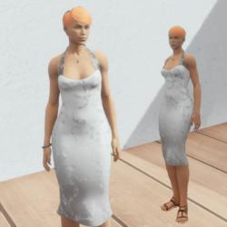 White tube vintage pin up dress