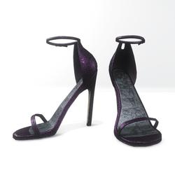 Ankle strap sandals for Nicci - glitter purple