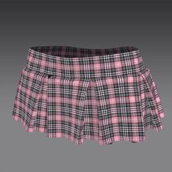 Pink Tartan Short Skirt