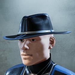 Dark Baby Blue and Black Hat