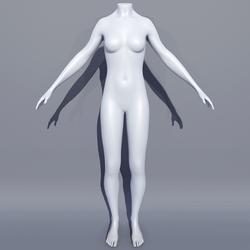 Woman AV2 Mannequin Avatar - White