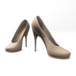 "High heel pumps for ""Alina Daisy highheels"" and ""Nicci"" avatar - beige"