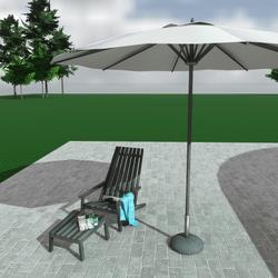Diathesi garden / beach furniture set