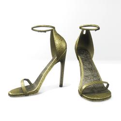 Ankle strap sandals  for Nicci - glitter golden