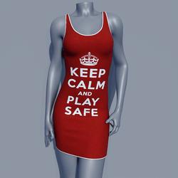 MPP - Keep Calm Dress - Play Safe - Red
