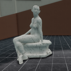 STATUES,  SITTING WOMAN