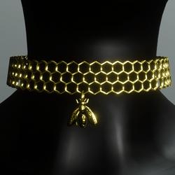 AV 2.0  Honeycomb choker - gold