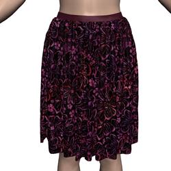 Marvelous Skirt with Dark Floral Batik Fabric