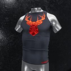 Sleeveless Shirt deer gray red