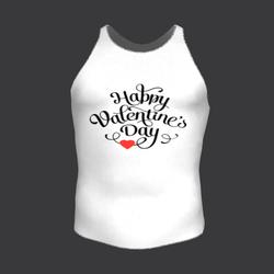 TKA-Happy valentine's day tank top white