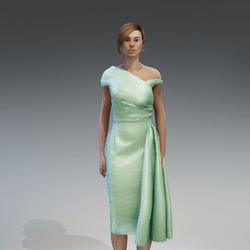 AV 2.0   Vintage elegant dress - green