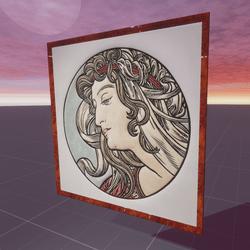 Head of a Woman Alphonse Mucha
