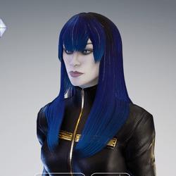PM - Female Hair 01 - Indigo  Color