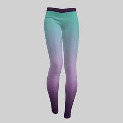 Leggings Maddy Gradient Purple & Aqua 2.0