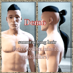 samurai hair demo
