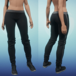Athletic Pants - Black and Grey