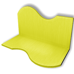 Display For Shop ( H5-W10-D5 ) - Yellow - Collision Mesh
