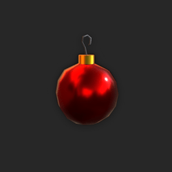 Red Holiday Tree Ornament