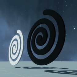 HYPNOTIC ANIMATED SPINNING SPIRAL - 2 COLORS BLACK&WHITE