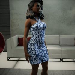 Stylish Cotton Blue Dress