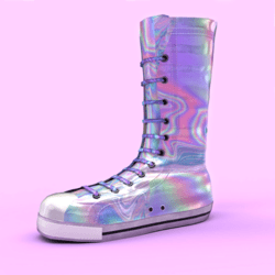 High Sneakers Iridescent Female shoes