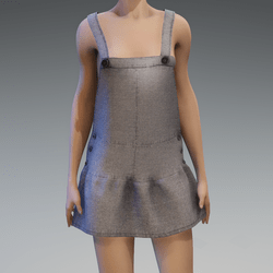 AV 2.0  Jumpsuit skirt - Grey