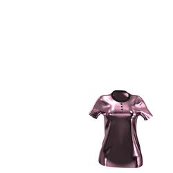 NEW Luxury Line - Baby Pink Velvet Polo-Shirt