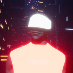 Male go-Glow Futuristic Cyclops Visor