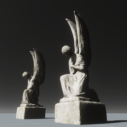 Pair of angel statues