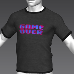 Ready Player One: Game Over T-Shirt (Grey) (M)