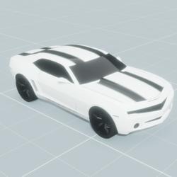 Camaro Blanche Bande noir