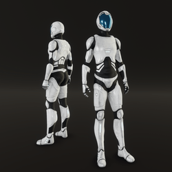 Female Space suit NC 2020 white