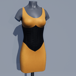 Corset Dress - Saffron Yellow