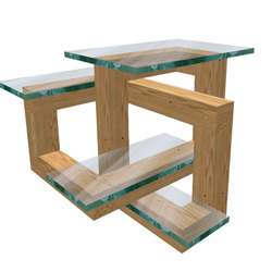 Trifoil Optical Illusion Table